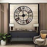 CKAN 60 CM Grande Metal Vintage Reloj Pared Silencioso Retro Design Reloje de Pared para Cocina/Salón/Dormitorio/Baño/Oficina