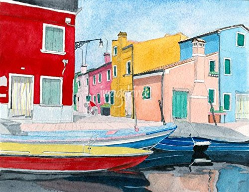 Imagekind Wall Art Print Entitled Burano Italy by Yvonne Carter | 47 x 36