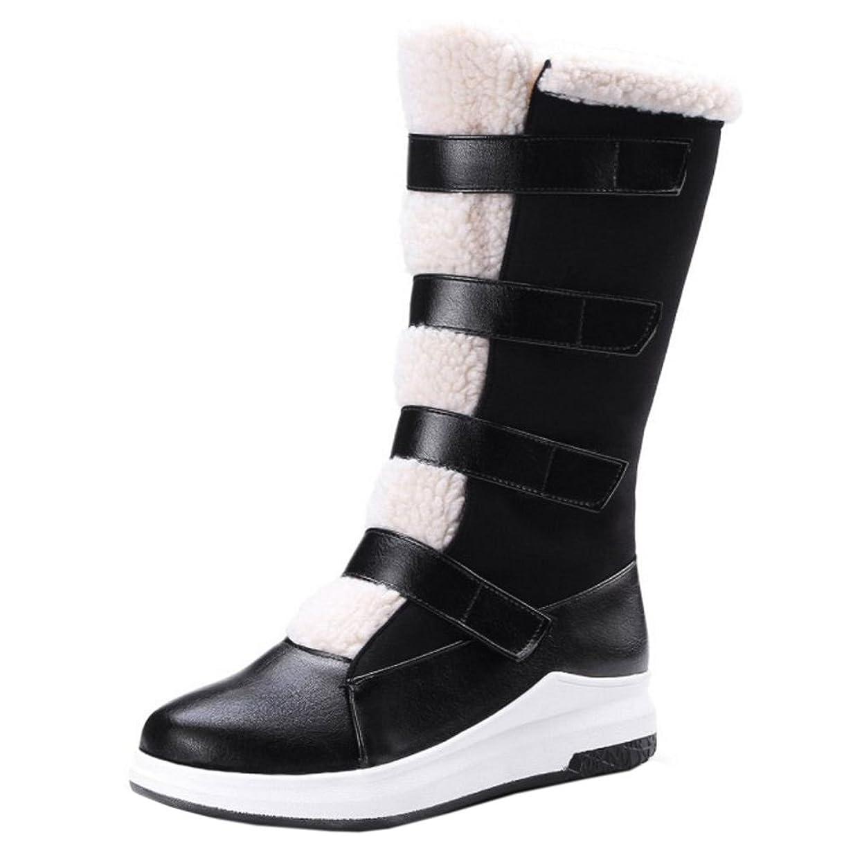 金銭的大胆不敵不測の事態COOLCEPT レディース コンフォート ショートブーツ防寒靴 マジックテープ