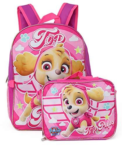 Nickelodeon Paw Patrol Backpack Lunchbag Set (Top Pups/Pink)