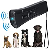 YHmall LED Ultrasonic Dog Repeller and Trainer Device 3 in 1 Anti Barking