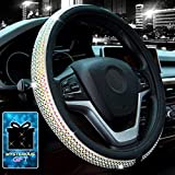Didida Bling Steering Wheel Cover for Men Women Diamond Crystal Rhinestones Shiny Universal 15 Inch (Colorful)