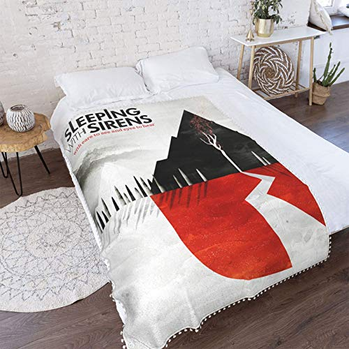 KErabbitsweat Sleeping with Sirens Throw Blanket Soft Microfiber Warm and Cozy Micro Fleece Flannel Blankets for Sofa Couch Bed Chair Air Conditioning Blanket 50'X40' Inch