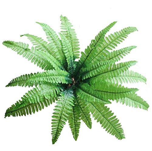 Large Artificial Imitation Boston Fern Bush Plant Green Decorative for Room Garden and Wedding (2)