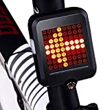 hyxt Luz trasera de bicicleta recargable por USB, luz inteligente de carga USB, luz indicadora de dirección de bicicleta, luz de advertencia portátil que se adapta a cualquier bicicleta de carretera