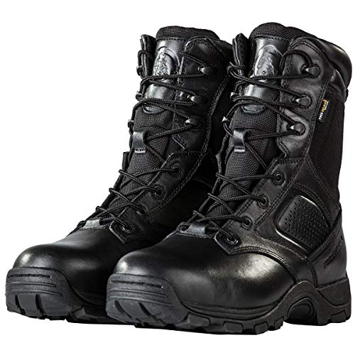 FREE SOLDIER Tactical Boots for Men Waterproof Insulated Composite Boots Army Combat Boots Durable Steel Toe Military Work Boots (Black, 12.5 M US)