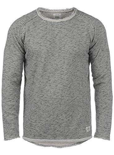 Redefined Rebel Matti Herren Sweatshirt Pullover Pulli Mit Rundhalsausschnitt, Größe:L, Farbe:Antracit Grey