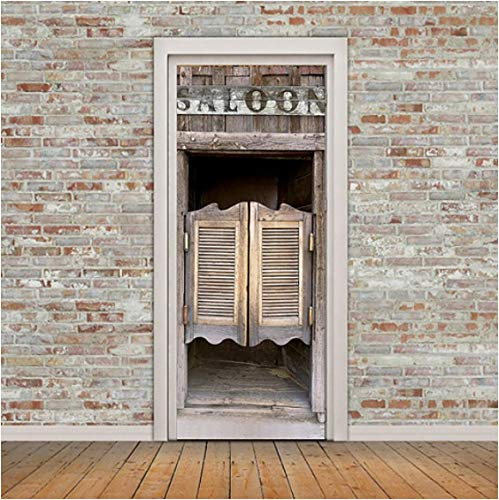 ZPCR Renovación autoadhesiva Bosque Lunar escénico DIY Pegatinas de PVC en la Puerta Entrada Impermeable decoración del hogar calcomanía impresión Imagen artística