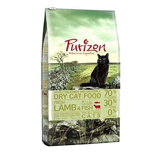 Purizon Premium Trockenfutter für ausgewachsene Katzen, Lamm und Fisch, 6,5 kg