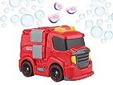 Gadgy  Machine a Bulles Camion de Pompier Plein Air | Mobile Souffleur Bubble Maker |...