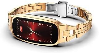 ZJ Smart Fitness Bracelet Reloj Inteligente Bluetooth para Mujer IP67 Impermeable Monitor De Ritmo Cardíaco Presión Arterial Cámara Fitness Tracker Reloj Inteligente