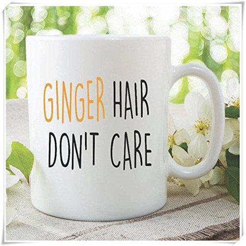 Funny Novelty Mugs Coffee Tea Cup Ginger Hair Don't Care Best Friend Mug Birthday Gifts Secret Santa Ideas Witty Banter Gifts Mug- 11oz Ceramic Coffee Mug Tea Cup, High Gloss