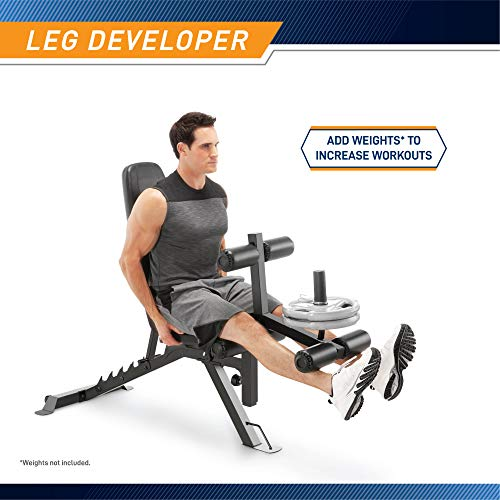Product Image 3: Marcy Adjustable 6 Position Utility Bench with Leg Developer and High Density Foam Padding SB-350