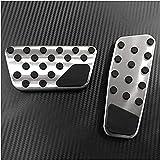 Cubiertas de pedales de coche de acero inoxidable, para Chrysler Town & Country 2013-2018, cubierta de pedal de embrague de acelerador antideslizante, almohadilla de freno, accesorios para el interio