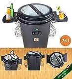 Party Cooler Mini frigorifero piccolo 75 l frigorifero mini bar Fridge barile bevande Outdoor campeggio birreria box frigo giardino mini bar elettrico con porta in vetro mobile rotondo su ruote