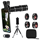Phone Camera Lens Kit for iPhone, Samsung, Android, 20X Telephoto...