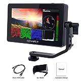 Feelworld F6 Plus 5.5 Zoll DSLR Kamera Field Monitor Touch Screen HDR 3D Lut Wellenform Small Full HD 1920x1080 IPS Video Peaking Focus Assist mit 4K HDMI Typ-C 8.4V DC Output Gehören Tilt Arm