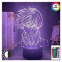 キッズ子供男の子ベッドルームのインテリアアクリルテーブルランプギフト用LEDナイトライトランプ 電気スタンド (Color : 7 colors no remote)