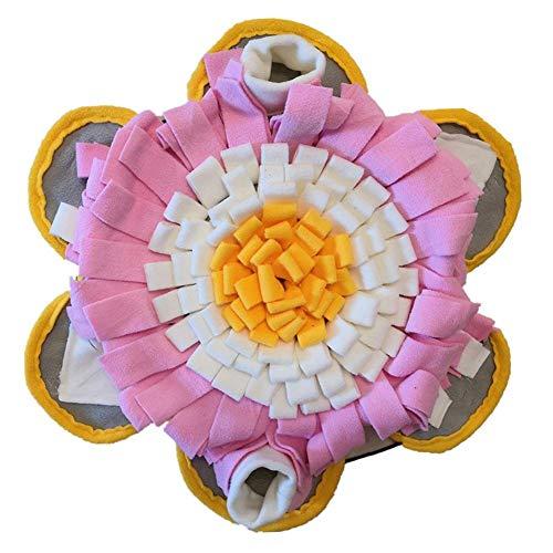 MaoLi Pet pad pieghevole cane naso pad multifunzionale cane alimentazione pad cucciolo formazione coperta (Colore: Rosa, Taglia M)