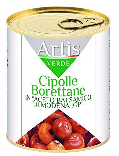 Cipolline Borettane con Aceto Balsamico Latta 1 Kg - Peso Netto g  800