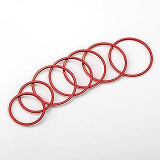 Lüftungsschlitze Dekoringe Dekoration Luftaustritt Lüftung Ringe rot Alu Legierung Styling Blenden Klima W205