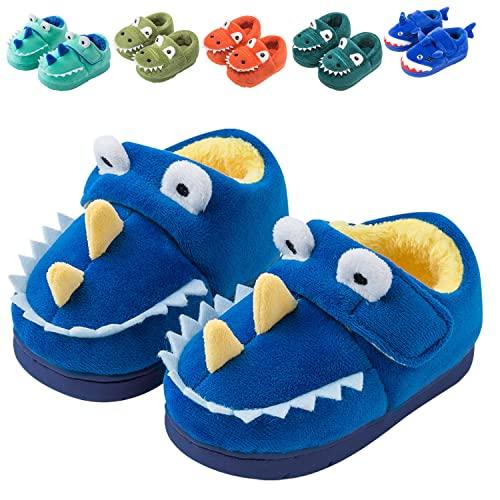 Fadezar Zapatillas De Estar por Casa para Niñas Niños Invierno Pantuflas Animales Antideslizantes Cálido Slippers 17 Azul EU 25/26 (Tamaño de la etiqueta170)