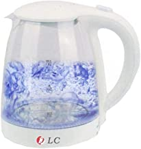 DLC Electric Glass Kettle, 1.8L, 150-2200W, White, with LED Light