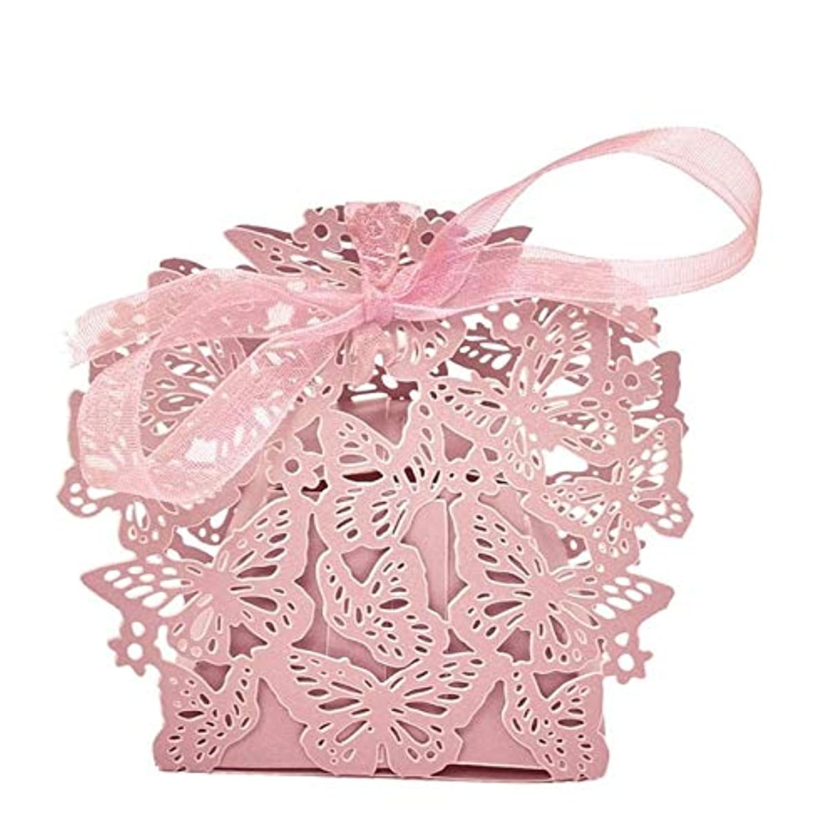 MOJITO LIVING PTE 10pcs Butterfly Ribbon Gift Candy Paper Box Wedding Party Favor Paper Bag Mr & Mrs Wedding Candy Box Sweets Gift Favor Boxes