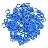 100 piezas de anillos de pierna de ganado, alas de anillo de pie de pájaro, pequeños anillos de clip de plástico para piernas con números escritos para identificación de ganado de animales pequeños