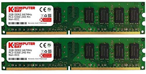 Komputerbay - Memoria RAM (DDR2, 800MHz, 4 GB, 2 x 2 GB)