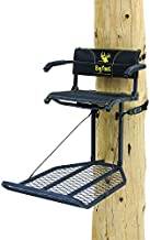 """Rivers Edge RE556, Big Foot TearTuff XL Lounger, Lever-Action Hang-On Tree Stand with TearTuff Flip-up Mesh Seat, Oversized 37.5"""" x 24"""" Platform, Arm/Foot/Back Rests, Black"""