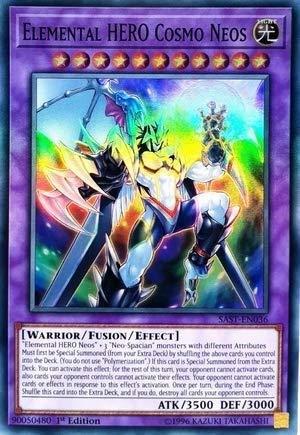 Yu-Gi-Oh! - Elemental Hero Cosmo Neos - SAST-EN036 - Savage Strike - First Edition - Super Rare