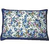 大型そばがら枕(ブルー)/ピロケース付き/日本製/中袋にもファスナー付。そば殻の高さの調節が便利です。