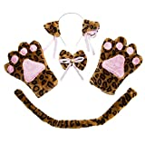 ECOMBOS - Accesorios para disfraz de gato, orejas de gato, p
