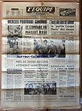 EQUIPE (L') [No 6887] du 22/05/1968 - MERCKX PROVOQUE GIMONDI ET S'EMPARE DU MAILLOT ROSE - L'AUSTRALIE DEVRAIT ENLEVER LA PETITE COUPE DAVIS DES DAMES - LE DR BLAIBERG RETROUVE LE RUGBY - LA CANADA FAVORABLE AU SKI OPEN - PRES DE 20 000 MESSINS ATTENDENT SAINT-ETIENNE - BORDEAUX - PARIS ET LA FINALE DU RUGBY