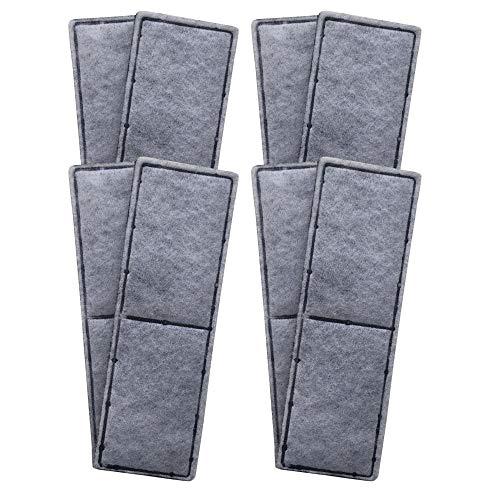 Finest-Filters 8 almohadillas de filtro de espuma de carbono compatibles para adaptarse a la gama Fluval U3 de filtros internos
