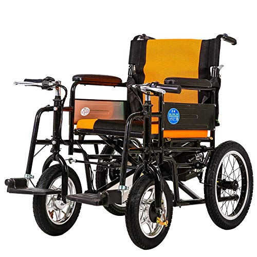 Wheelchair Lightweight Folding Electric Portable Powerchair with Power or Manual Only Weight 28kg 45cm Wide Seat