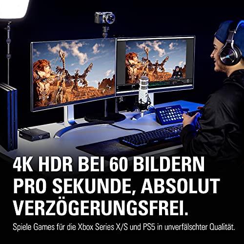 Elgato 4K60 S+ Aufnahme in 4K60 HDR10 auf SD-Karte, verzögerungsfreie Weiterleitung des 4K60 HDR Signals, PS5/PS4, Xbox Series X/S, Xbox One X/S - 4