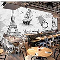 Iusasdz カスタム壁紙3D壁画パリレンガ壁テレビ背景壁リビングルームベッドルームホテルレストラン3D壁紙200X140Cm