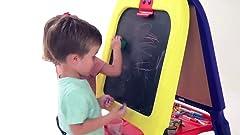 Amazon.com: Delta - Caballete infantil con pizarra de ...