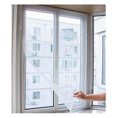 Bluelans® - Écran en filet anti-insectes pour porte et fenêtre avec ruban magnétique (blanc - 130 x 150 cm), blanc, 1