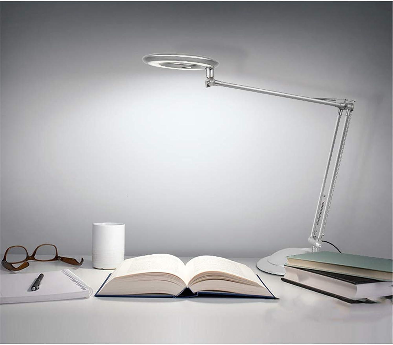 ZOYNZ LED Kreative Tischlampe Lernen Arbeit Augenschutz Tischlampe Multi-Winkel-Klapplampe Schlafzimmer Studie Nachttischlampe (Wei)