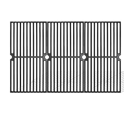 Uniflasy Cast Iron Grill Accessories Cooking Grid Grates Replacement Parts for Brinkmann 810-2410-S, 810-2511-S, 810-8410-S, 810-8411-5, 810-9415-W, Charmglow, Browning, Grillada Gas Grills