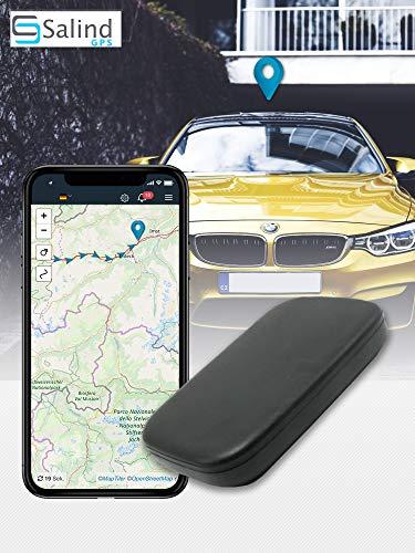 Salind GPS-Tracker Auto, Motorrad, Fahrzeuge und LKW´s mit Magnet, etwa 20 Akkulaufzeit (bis zu 60 Tage im Standby Modus)