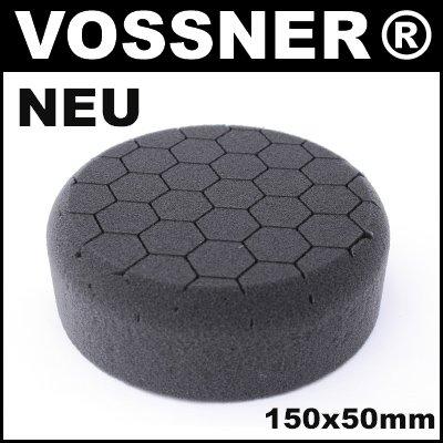 Profi Polierschwamm Hexagon 150mm schwarz Soft für Poliermaschine