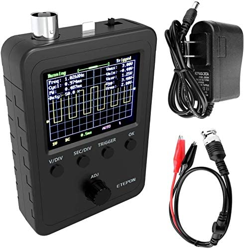 ETEPON Digital Oscilloscope Kit with BNC Clip Cable Probe Assembled Finished Machine EM001 product image