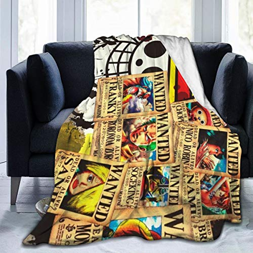 WQOIEGE Ultra Soft Micro Fleece Blanket Japanese Anime Hot Comic Cartoon One Piece Anti-Pilling Bed Throws Wearable Bed Blanket Lightweight Quilt for Sofa,Living Room,Cinema 50'X40'
