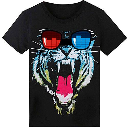 SOOOEC - Camiseta con Luz Led y Sonido Activado