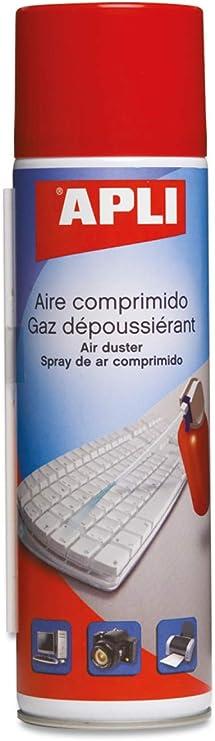 APLI 12669 - Aire comprimido para la limpieza en seco 200 ml. Ideal para teclados, ordenadores y dispositivos electrónicos