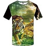 yyqx container T-Shirt à Manches Courtes Lin Zhonghu T-Shirt Hommes 3DT Chemise à Manches Courtes col Rond Impression numérique Casual Manches Courtes-Color_4XL